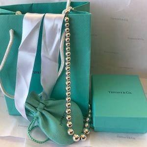 Tiffany&Co Sterling Silver Graduated Bead Necklace